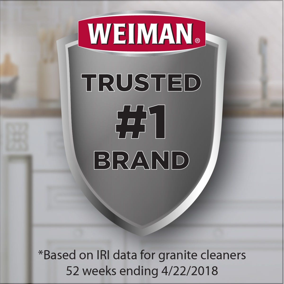 Weiman is trusted number one granite cleaner brand