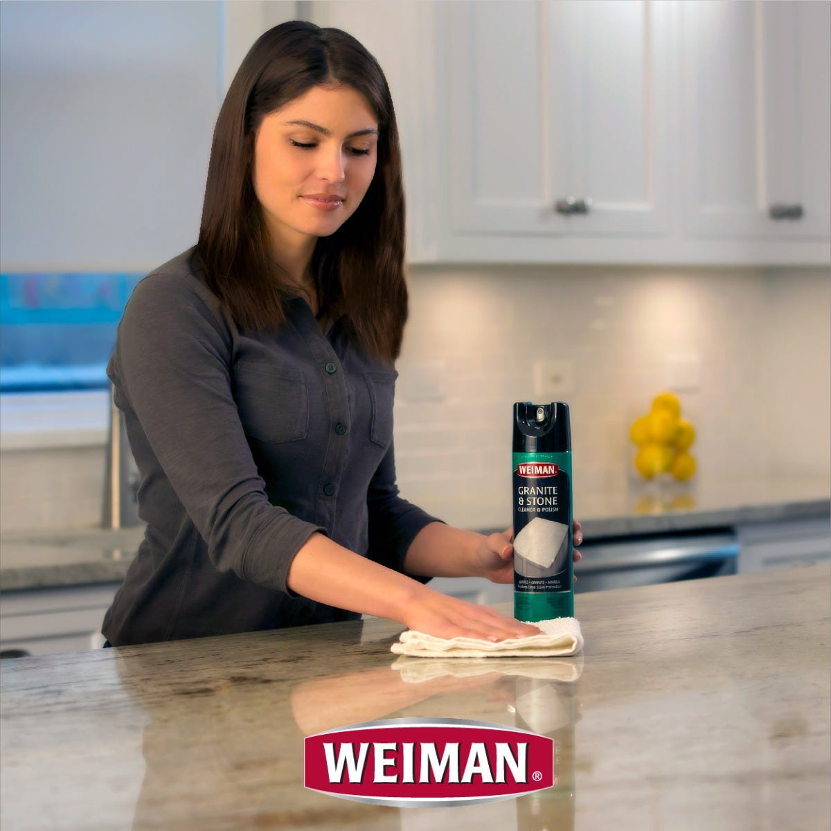 Weiman granite aerosol in use