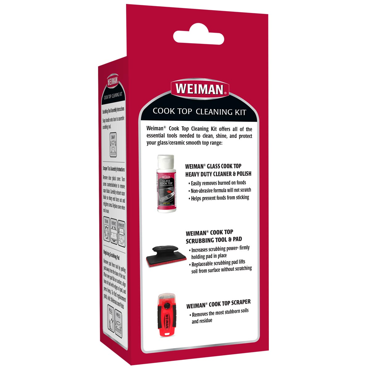 Cooktop Cleaning Kit - back label