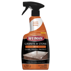 Weiman Granite & Stone 3-in-1 Clean, Polish & Protect