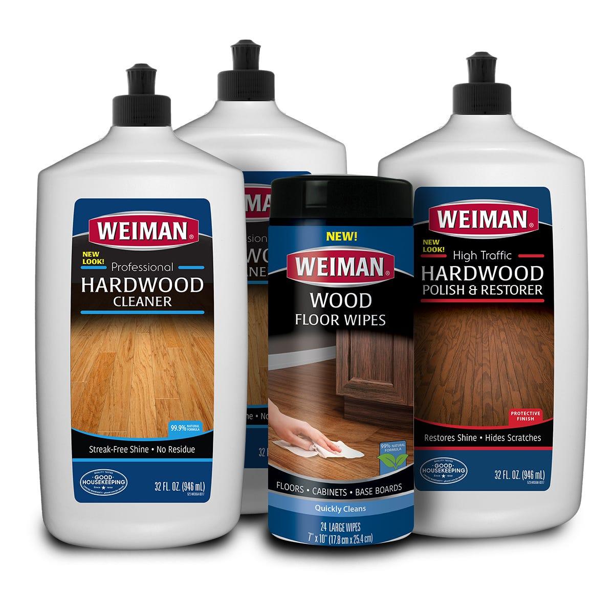 Hardwood floor cleaning kit