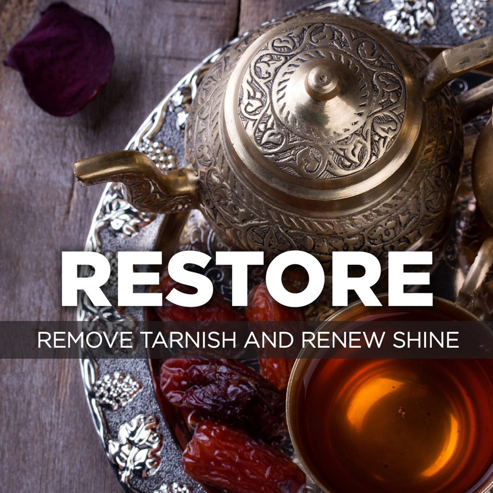 Remove tarnish and renew shine
