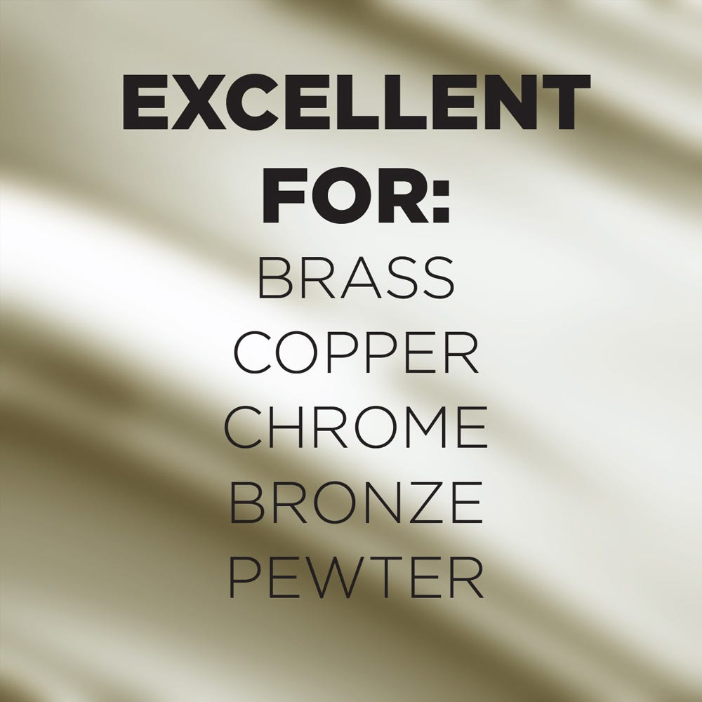 Use on brass, copper, chrome and more