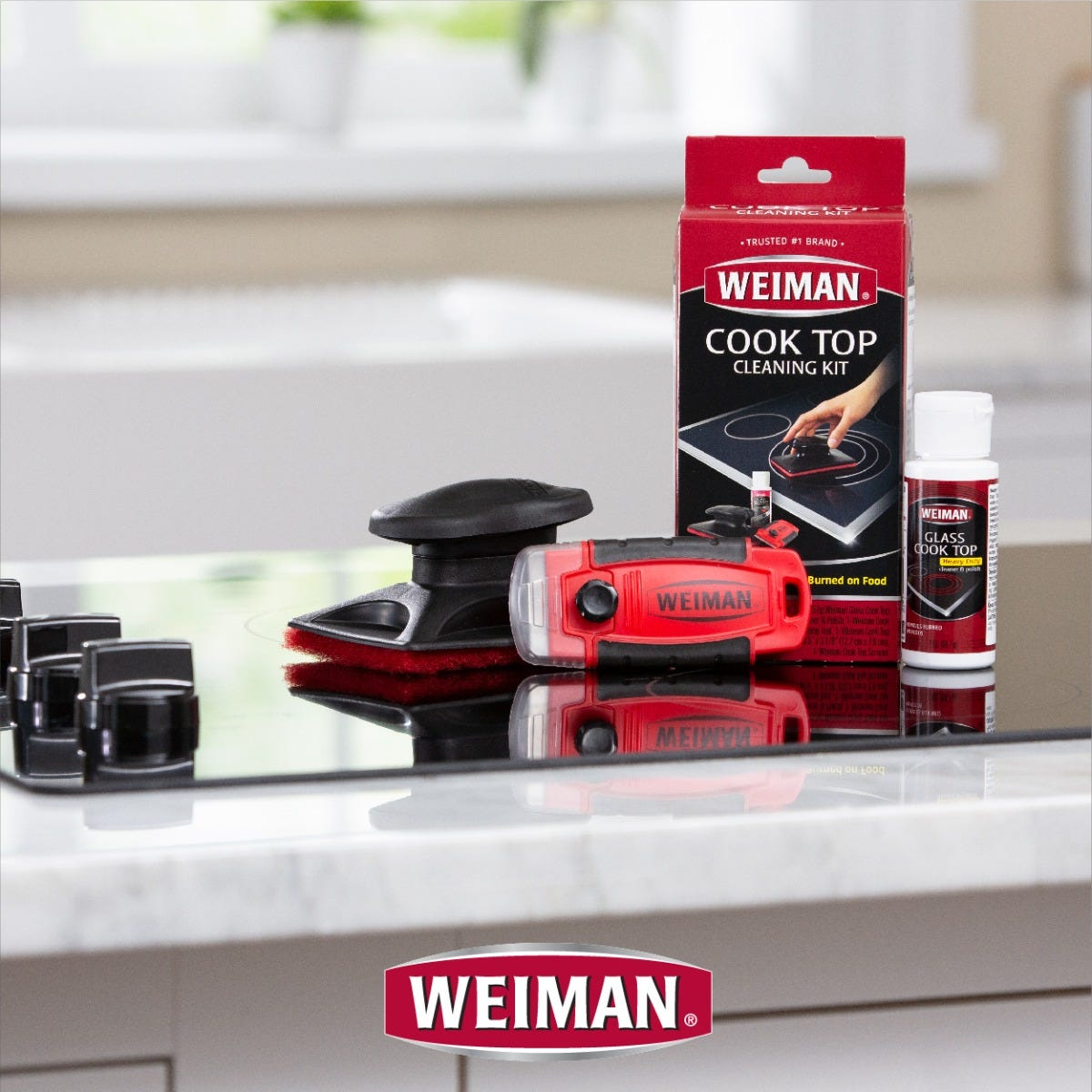 Cooktop Cleaning Kit Weiman Back Label And Components