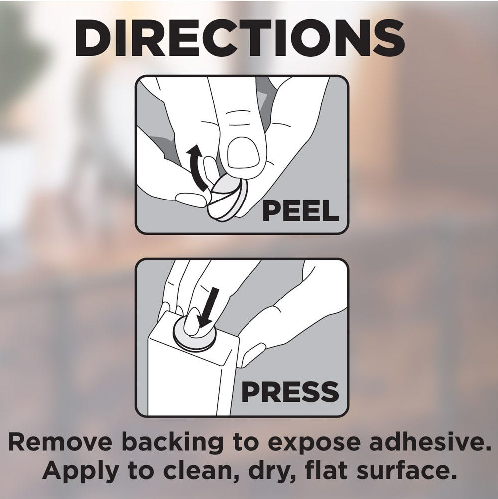 To use, peel and press