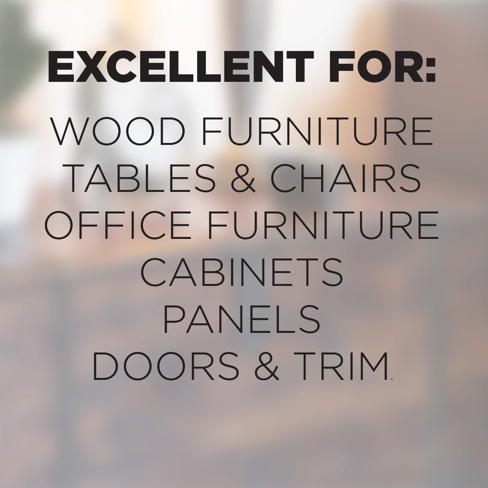 Works on wood furniture, cabinets and more