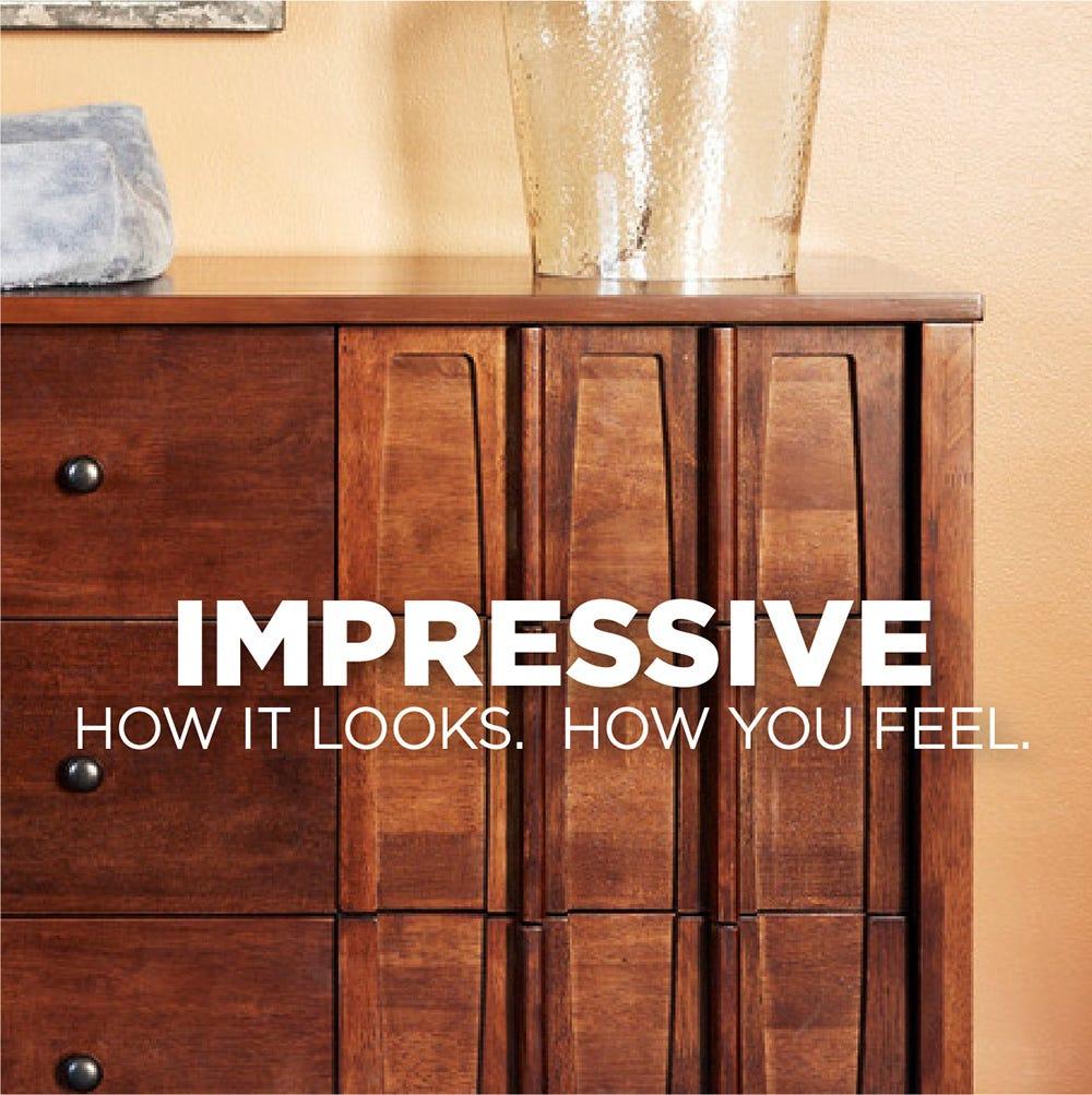 Impressive wood furniture
