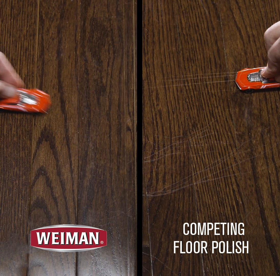 Scratches on competitor vs no scratches with Weiman