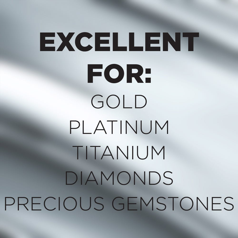 Use on gold, platinum, diamonds and more