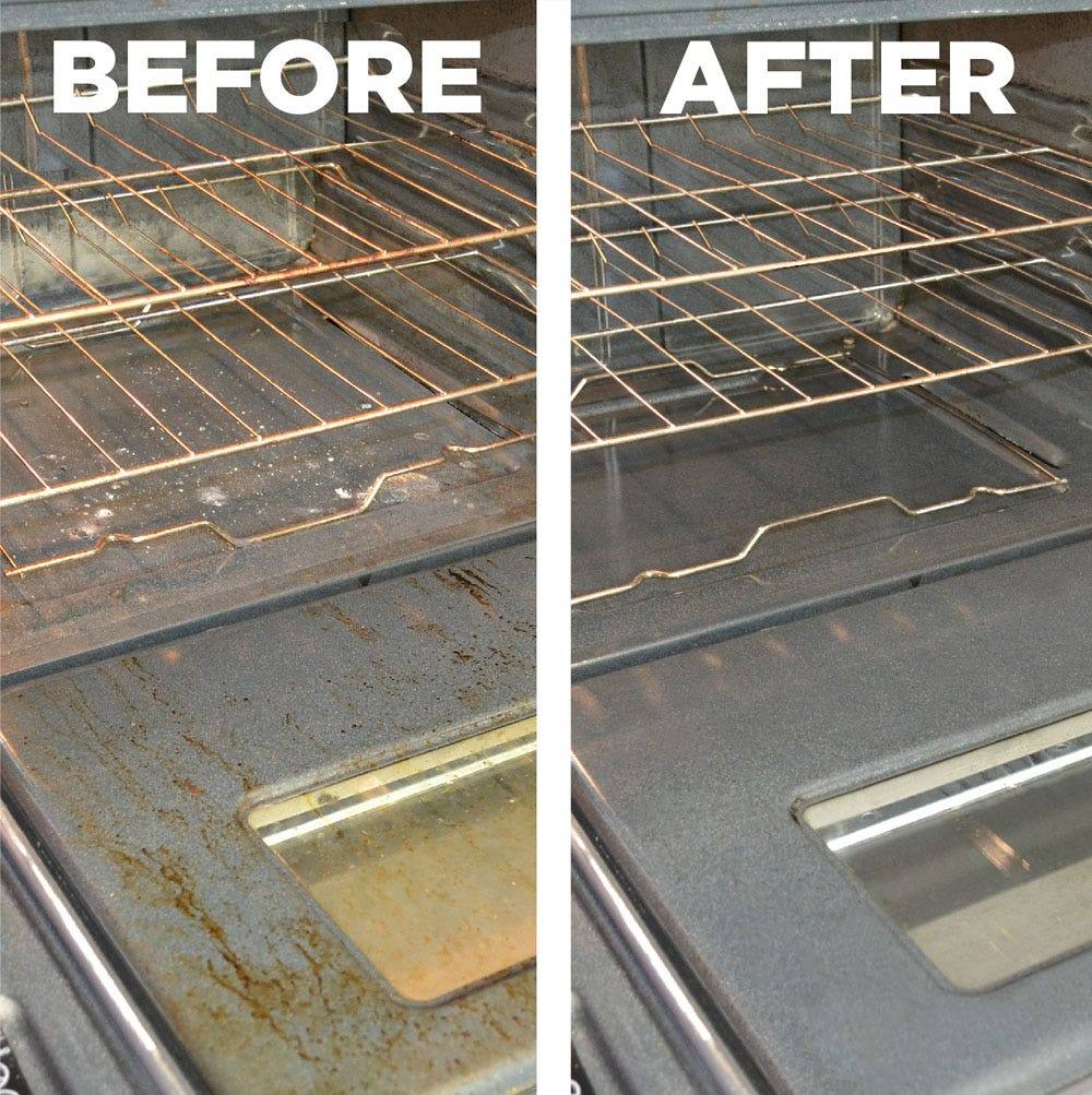 Before and After using cleaner