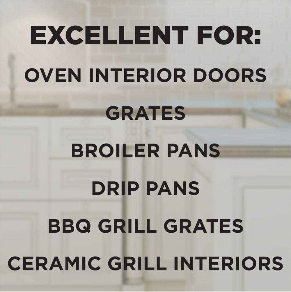 Use on interior doors, grates, drip pans and more