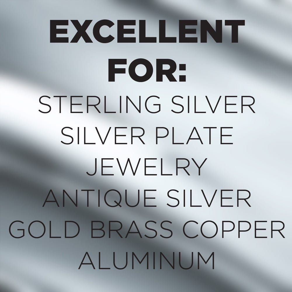 Use on sterling silver, silver plate and more