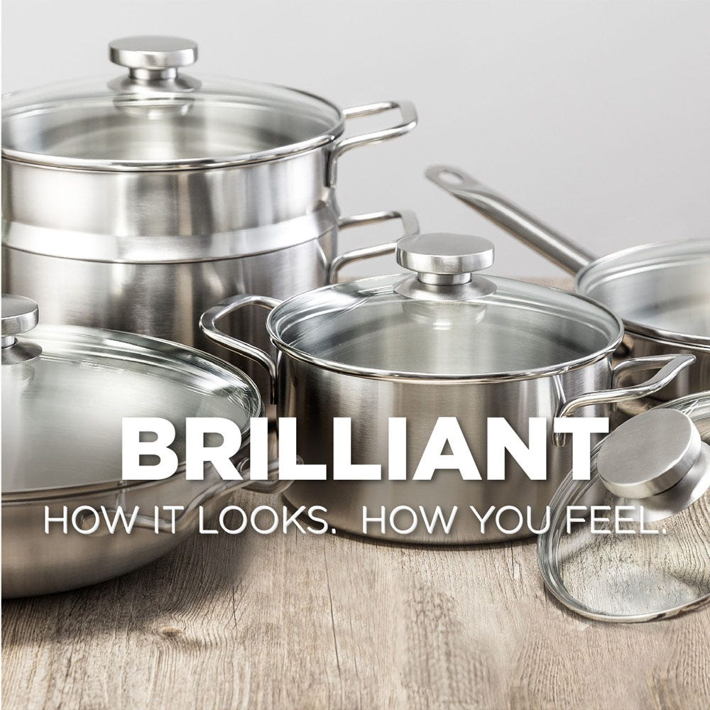 Brilliant looking cookware