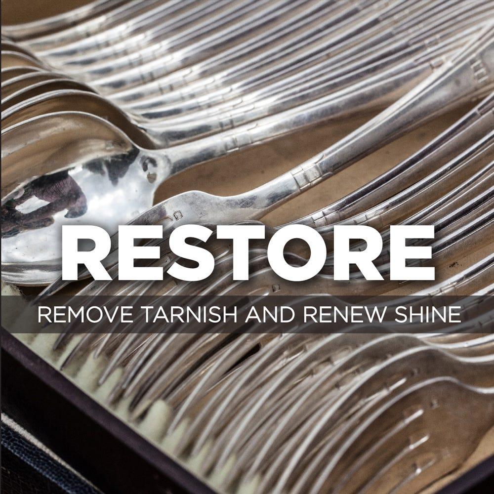Remove tarnish and renew shine